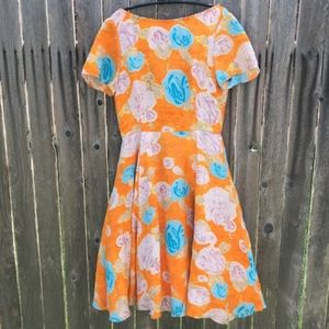 Tracy Reese Vintage Inspired Floral Dress Size 6
